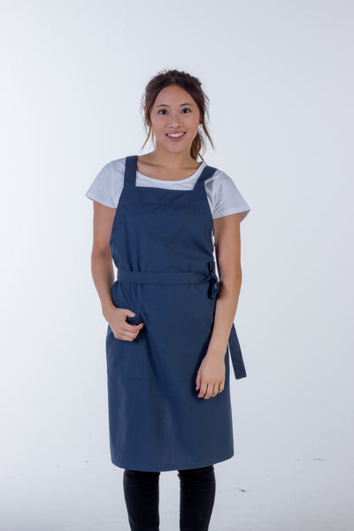 Orthodox Cross Over Apron Bluish Grey