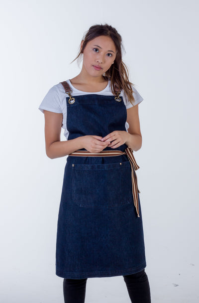 Original Denim apron dark indigo Italy