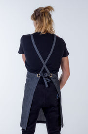 DENIM APRON - DEFAULT GREY