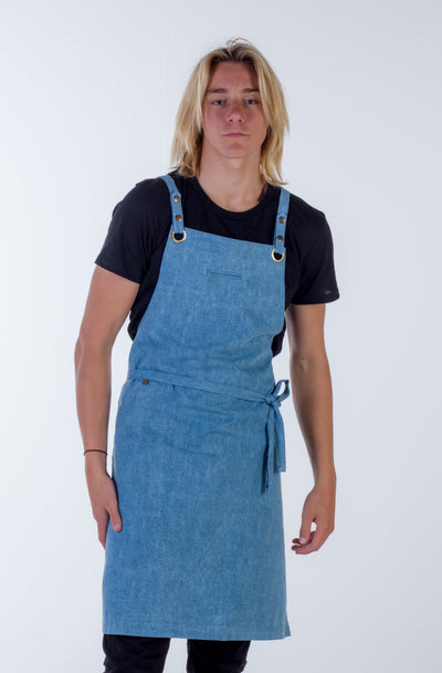 Denim apron light blue Fitzroy - Ace Chef Apparels