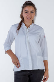Ladies 3/4 Sleeve white Chef Jacket