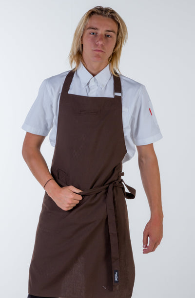 Chocolate brown bib Chef Aprons Niche