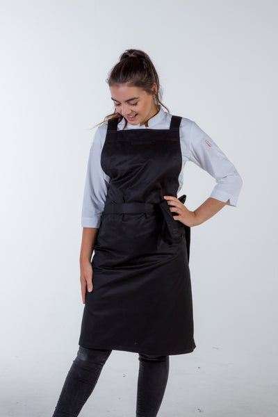 Crossover Chef apron byron Black with black straps