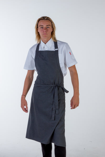 charcoal grey bib Chef Aprons Large Size