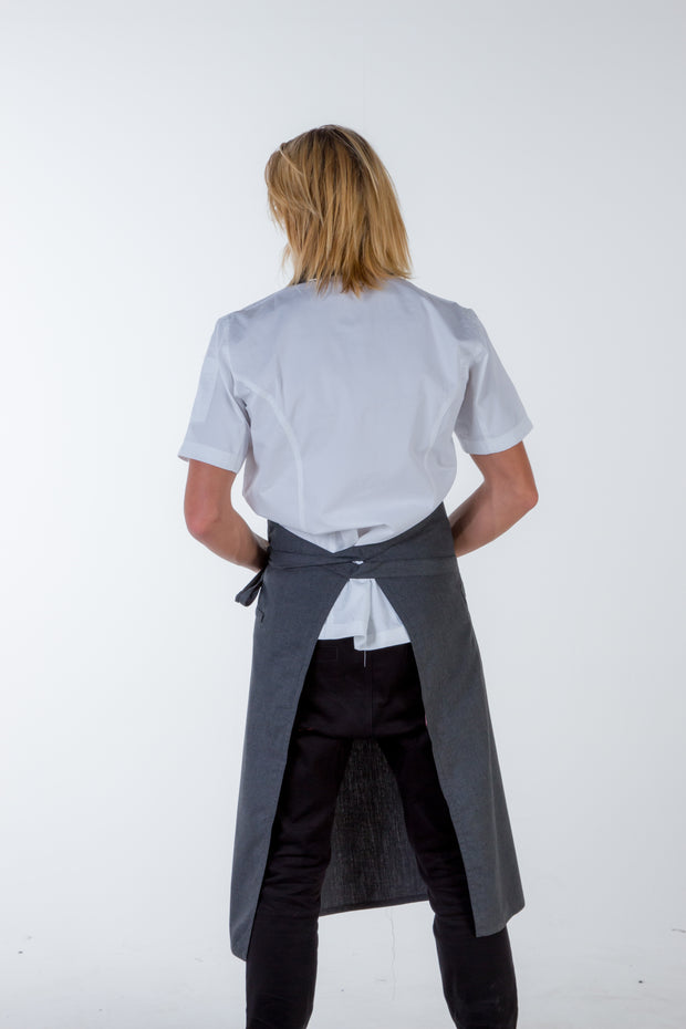 NICHE - CHEF BIB APRON - CHARCOAL GREY Large
