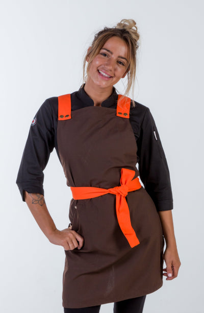 Crossover apron chocolate brown Melbourne