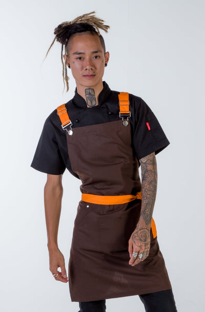 Crossover apron chocolate brown Murray