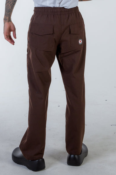 Chef pants brown color drawstring