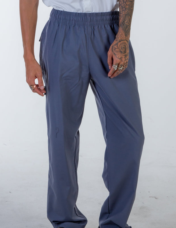 LIGHT GREY- drawstring Chef Pants