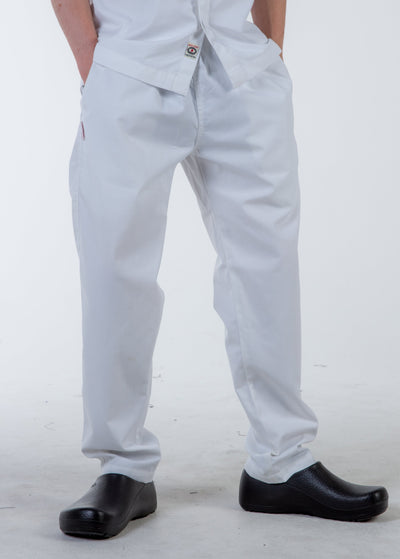 Chef pants white color drawstring