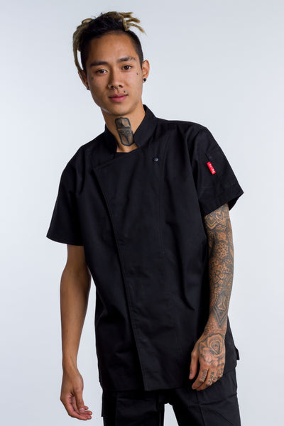 Chef jackets black with Coolvent Flinders