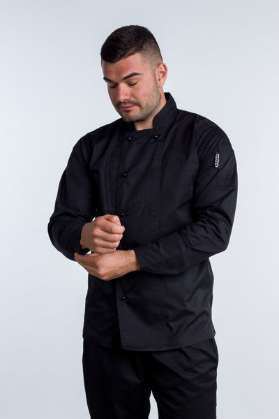 Chef jackets long sleeve black Generic