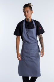 NICHE - CHEF BIB APRON -LIGHT GREY