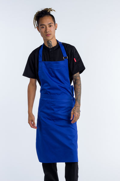 Royal blue chef aprons Niche