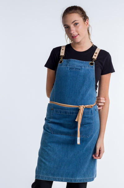 Blue Denim apron Swiss