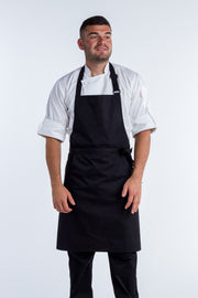 Black bib apron NO pocket - 2 Sizes