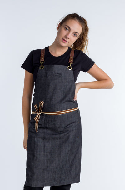 Denim apron Charcoal Grey Cello