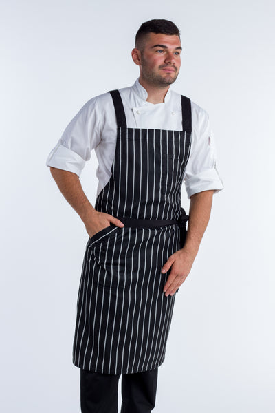 Crossover Chef apron byron Black/white stripes