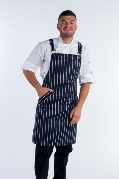 Crossover apron Striped aprons Murray