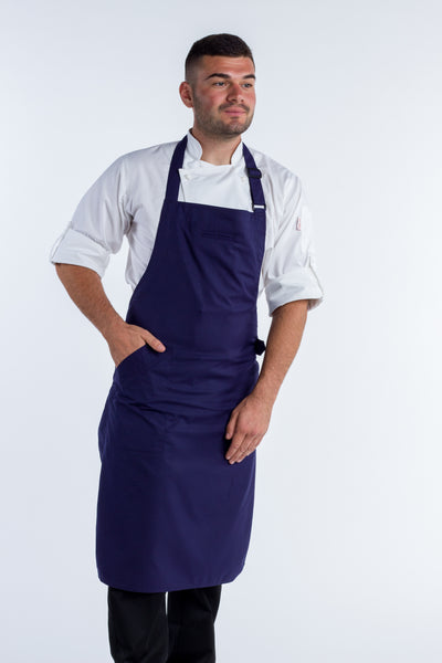 Strapless Navy Chef Aprons Press