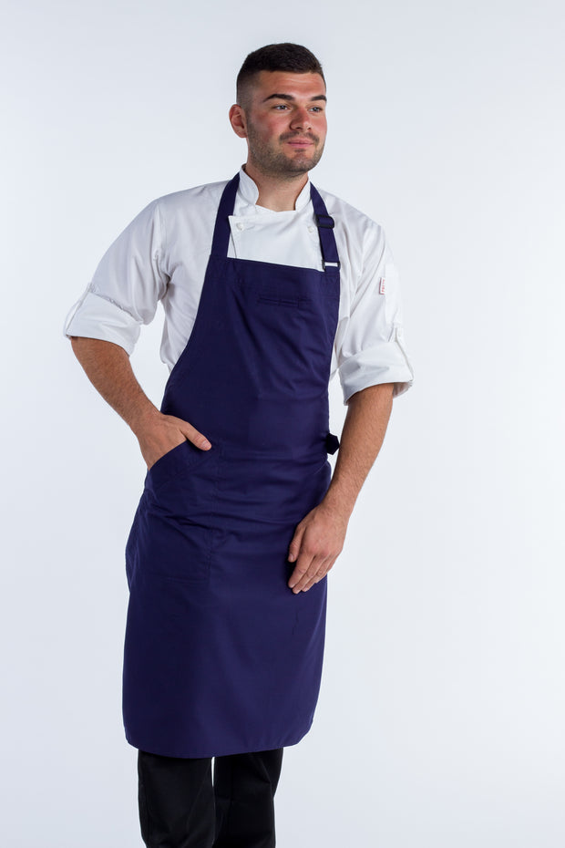 THE PRESS BIB APRON - NAVY BLUE