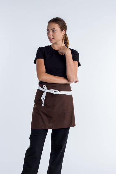 Waist aprons chocolate brown Frazer
