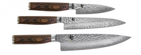 KNIFE SET 3PCE BOXED, SHUN PREMIER