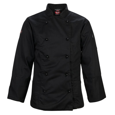 Ladies Long Sleeves Black Chef Jacket