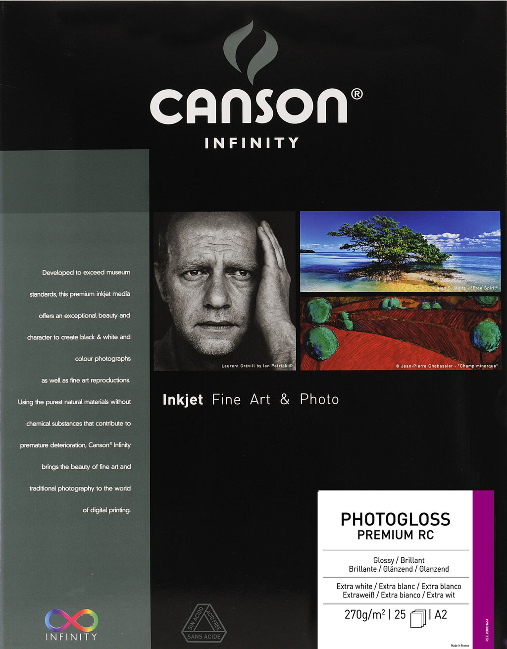 Canson Infinity Photo Gloss Premium RC - 270gsm - A2 - 25 sheets - Wall Your Photos