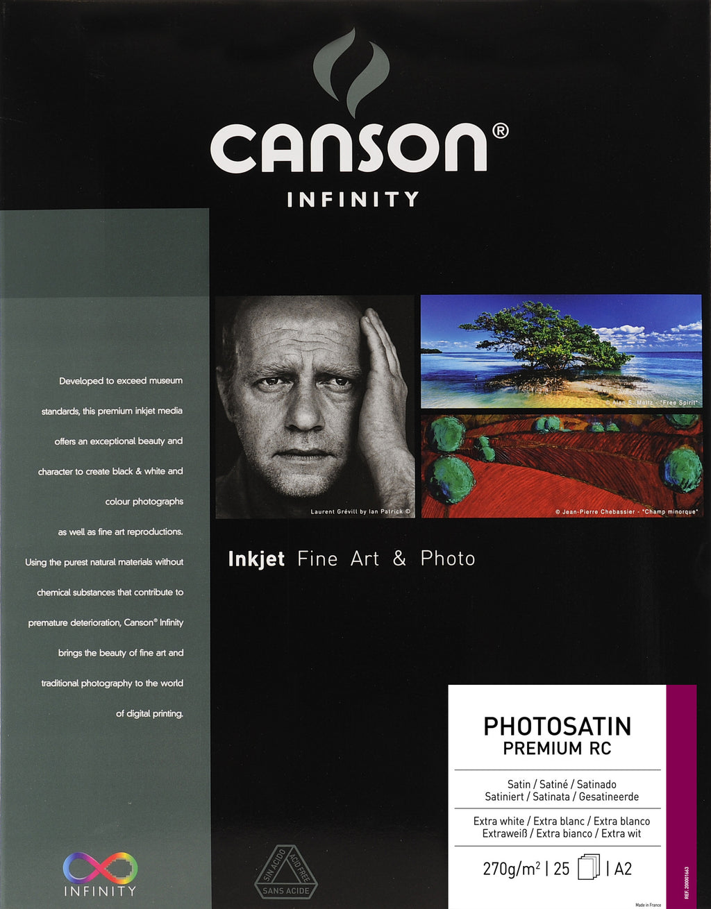 Canson Infinity Photo Satin Premium RC - 270gsm - A2 - 25 sheets - Wall Your Photos