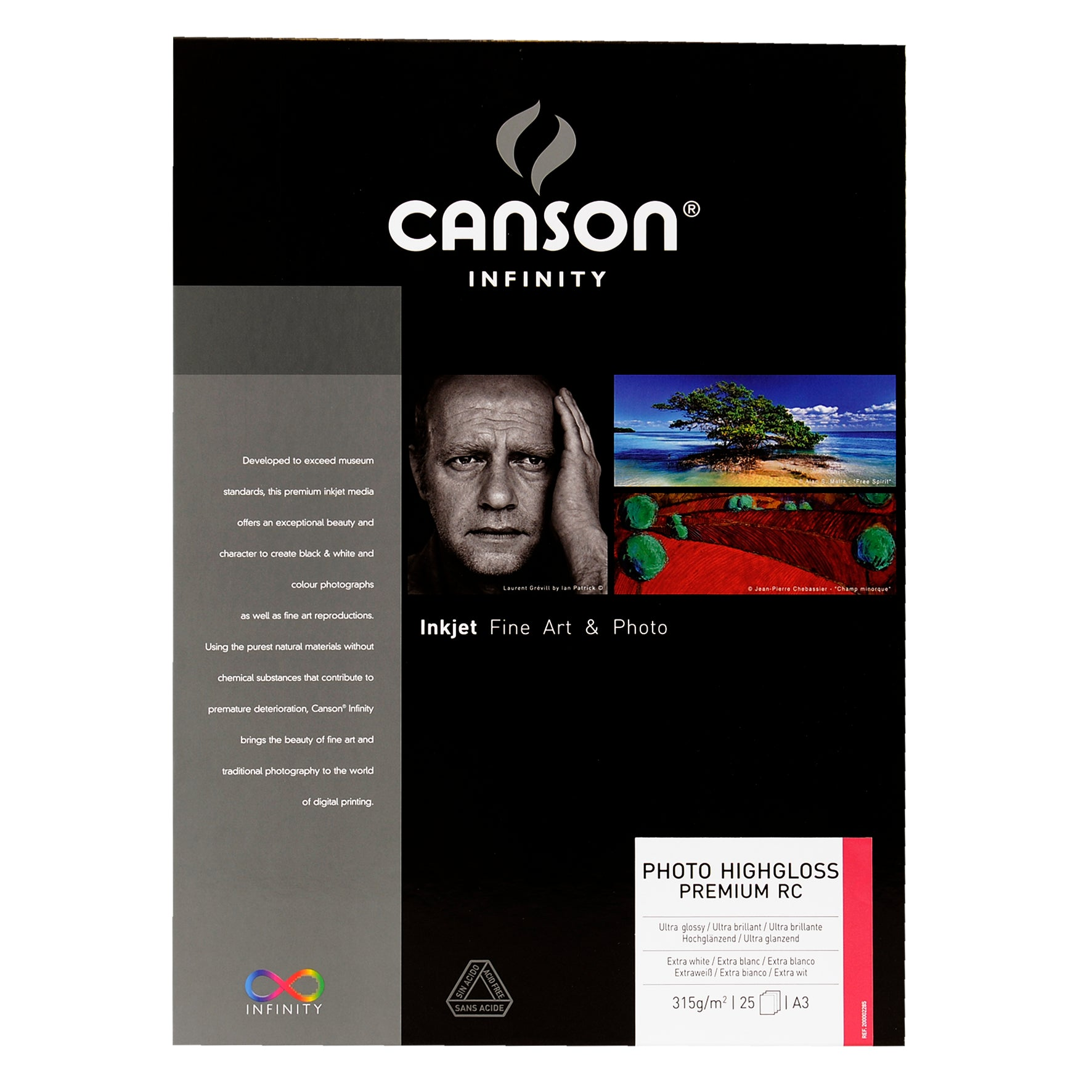 Canson Infinity Photo High Gloss Premium RC - 315gsm - A3 - 25 sheets