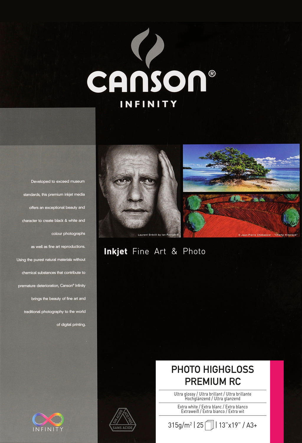 Canson Infinity Photo High Gloss Premium RC - 315gsm - A3+ - 25 sheets - Wall Your Photos