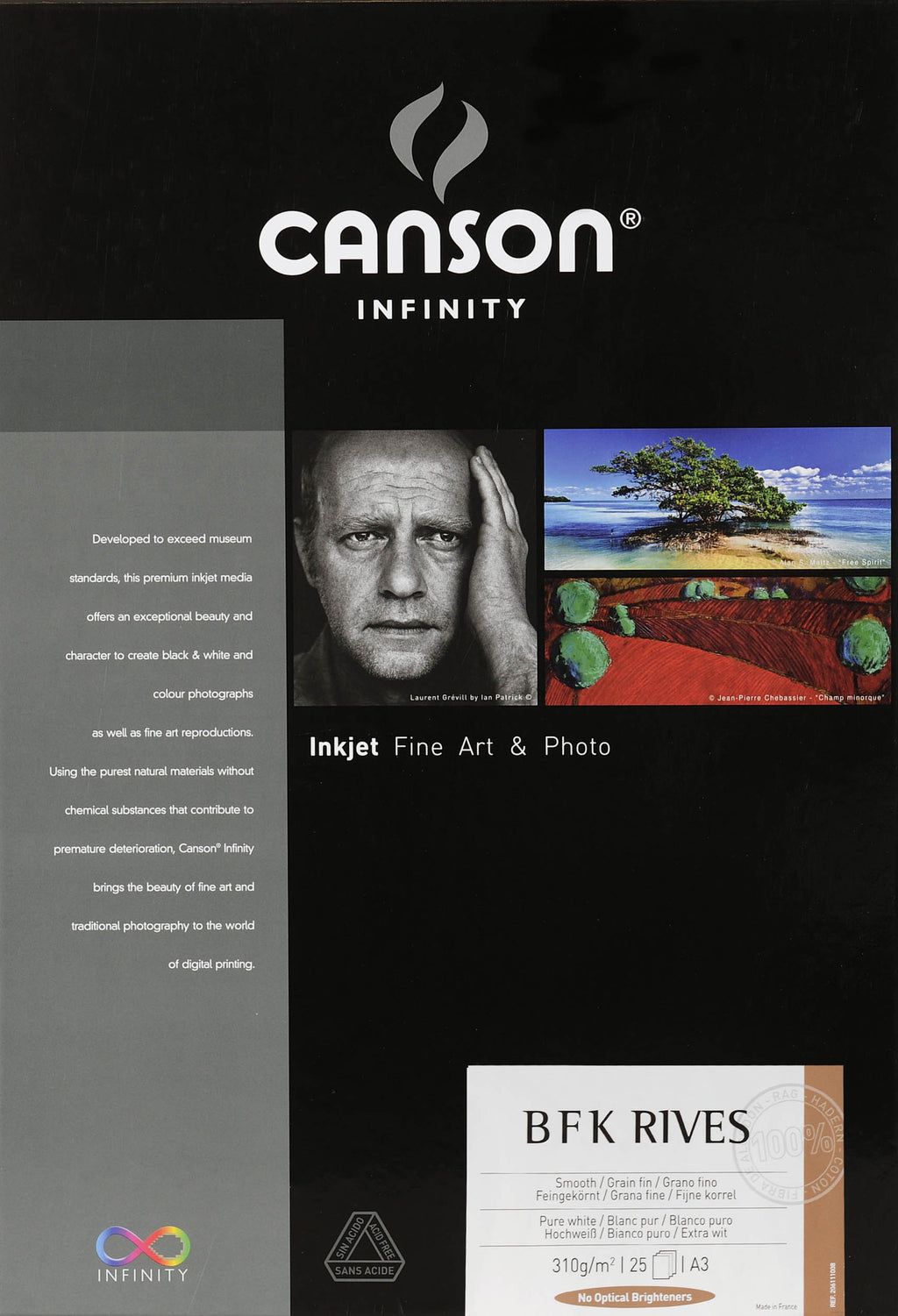 Canson Infinity PrintMaKing Rag (BFK Rives) - 310gsm - A3 (25 sheets) - Wall Your Photos