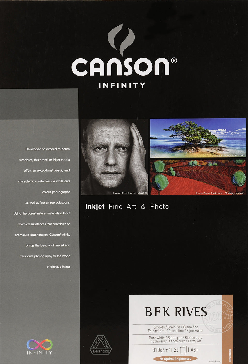 Canson Infinity PrintMaKing Rag (BFK Rives) - 310gsm - A3+ (25 sheets) - Wall Your Photos