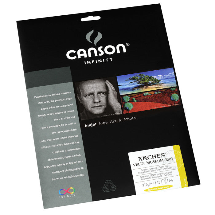 Canson Infinity Velin Museum Rag - 315gsm - A4 (10 sheets) - Wall Your Photos