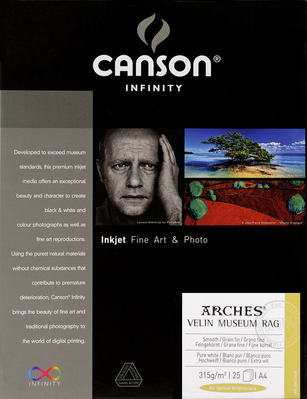 Canson Infinity Velin Museum Rag - 315gsm - A4 (25 sheets) - Wall Your Photos