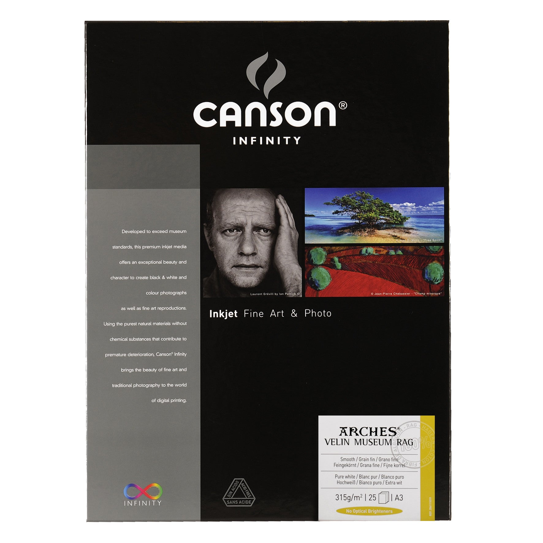 Canson Infinity Velin Museum Rag - 315gsm - A3 (25 sheets)