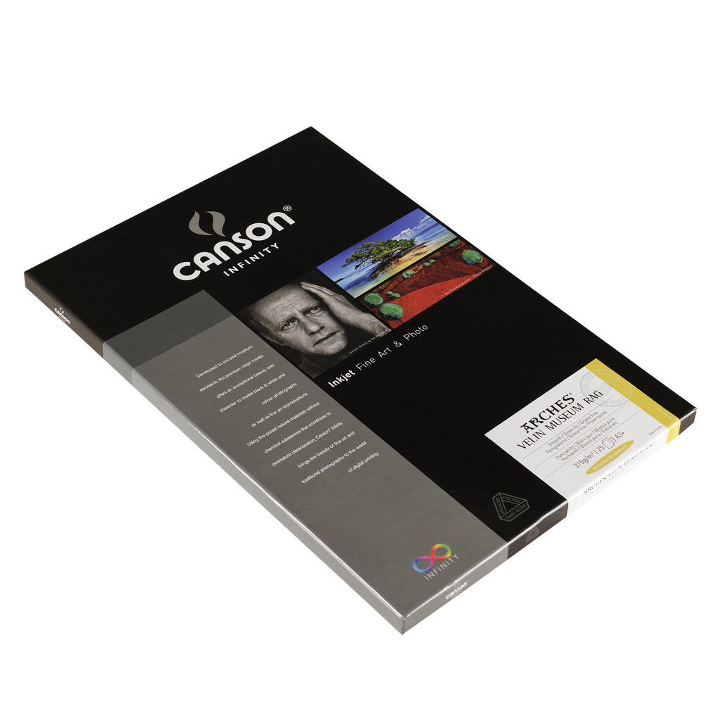 Canson Infinity Velin Museum Rag - 315gsm - A3+ (25 sheets) - Wall Your Photos