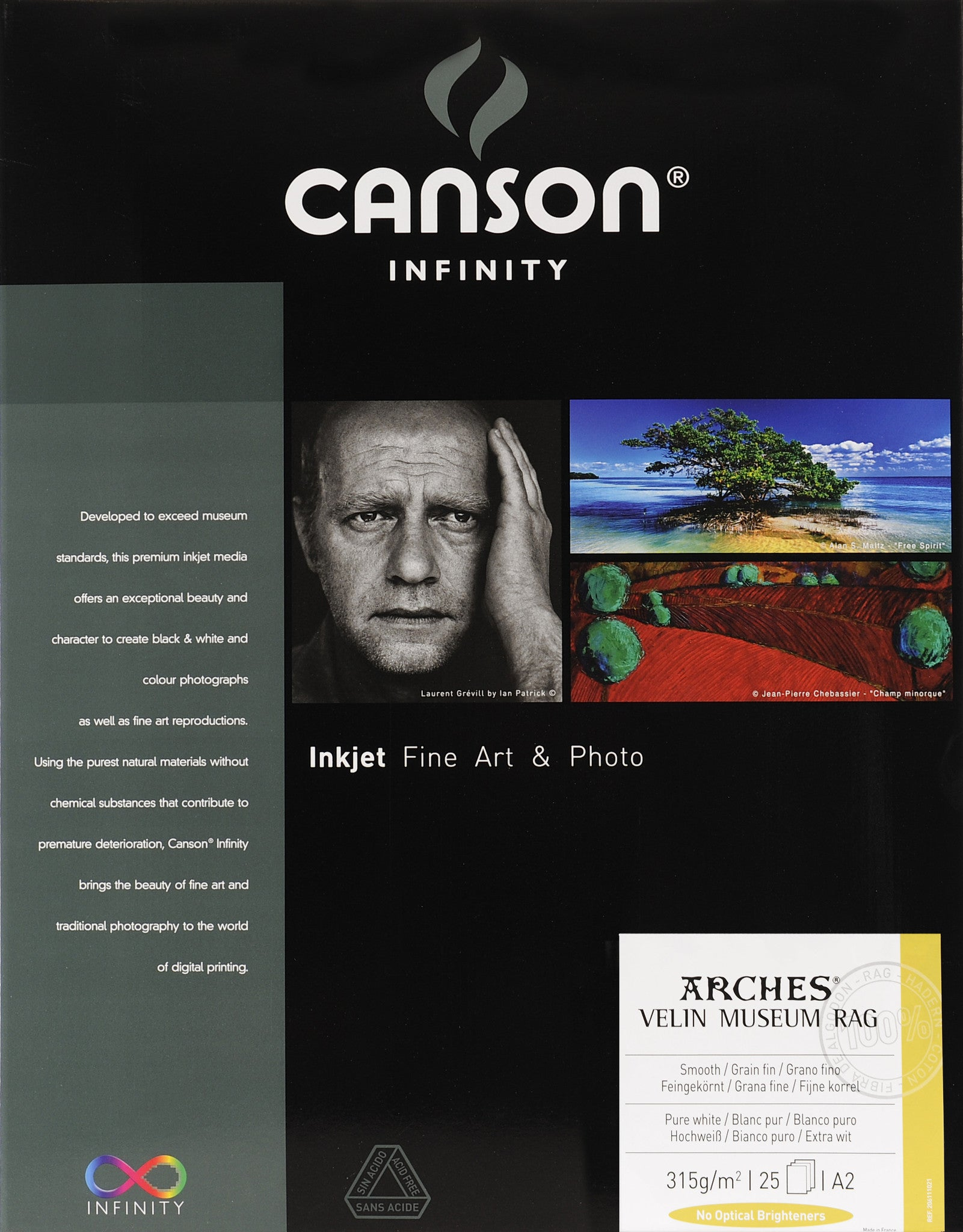 Canson Infinity Velin Museum Rag - 315gsm - A2 (25 sheets)