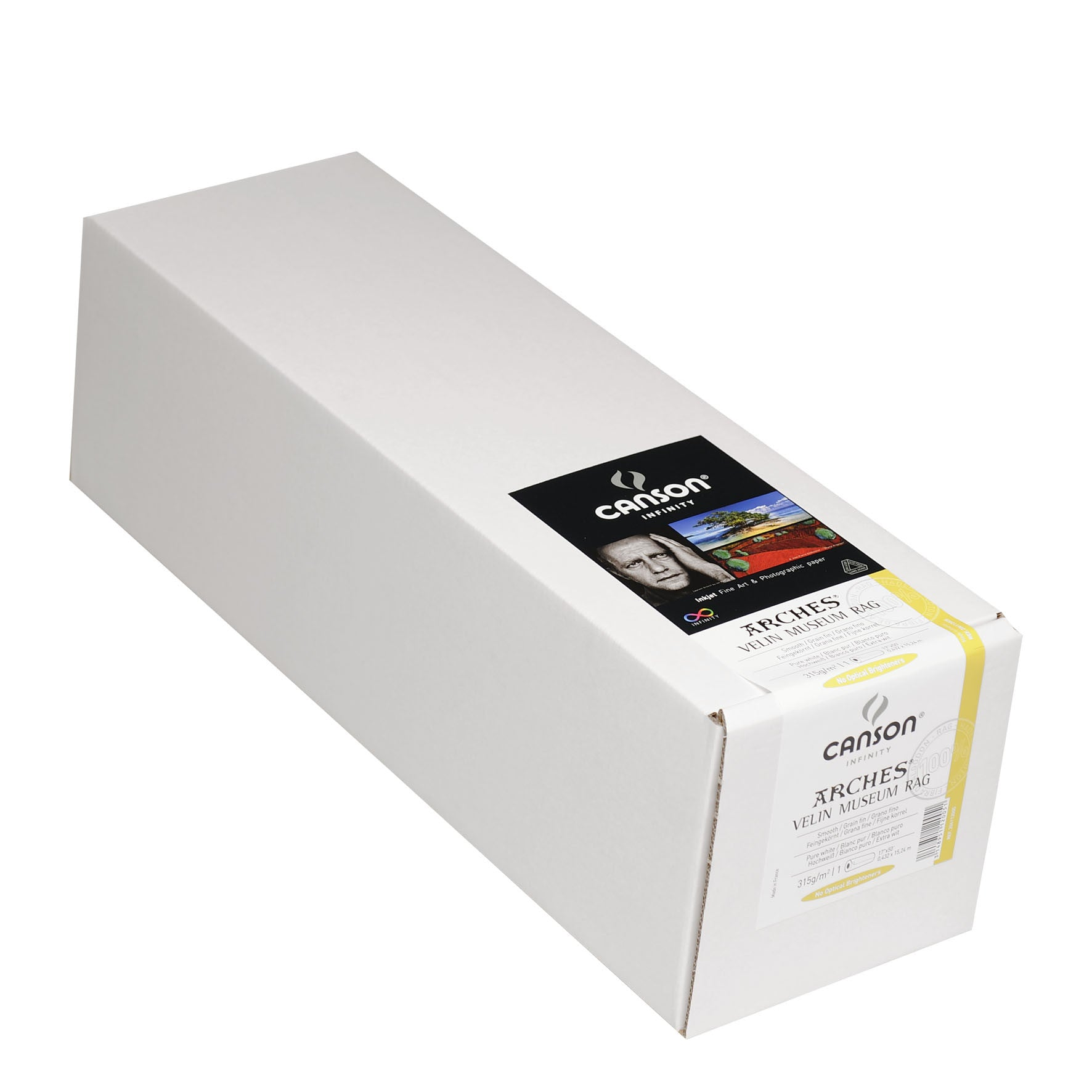 "Canson Infinity Velin Museum Rag - 315gsm - 17""x50' roll - Wall Your Photos"
