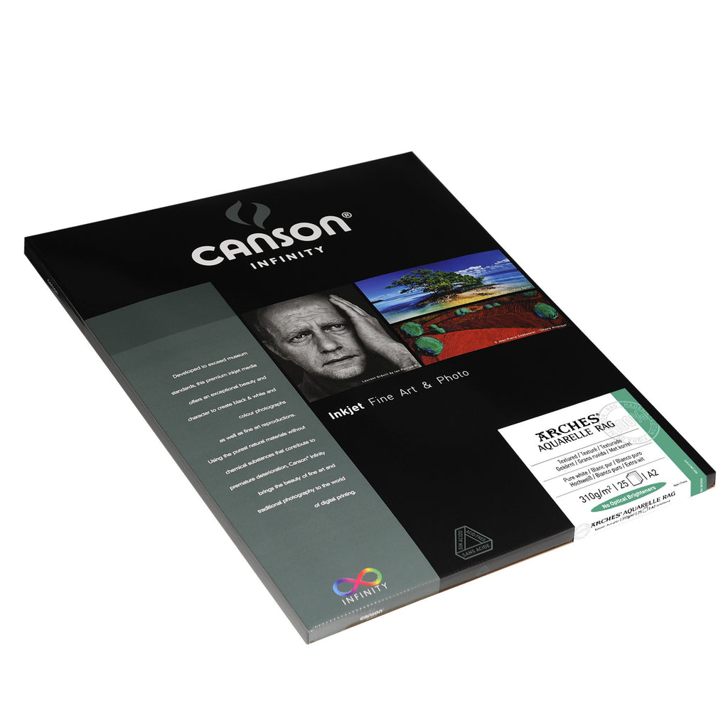 Canson Infinity Aquarelle Rag - 310gsm - A2 (25 sheets) - Wall Your Photos