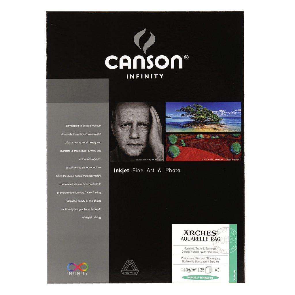 Canson Infinity Aquarelle Rag - 240gsm - A3 (25 sheets) - Wall Your Photos