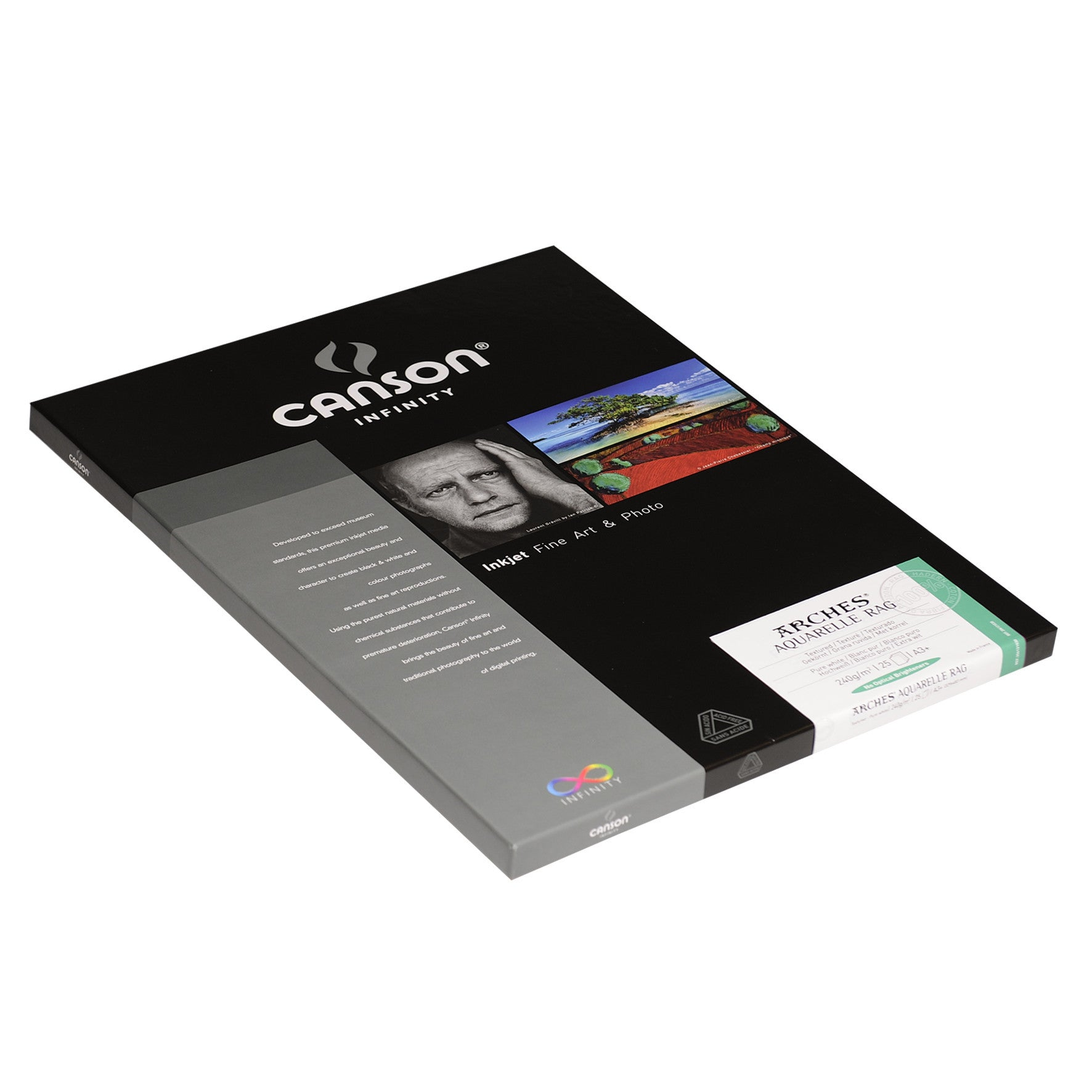 Canson Infinity Aquarelle Rag - 240gsm - A3+ (25 sheets)