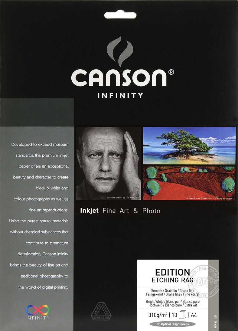Canson Infinity Edition Etching Rag - 310gsm - A4 - 10 sheets - Wall Your Photos