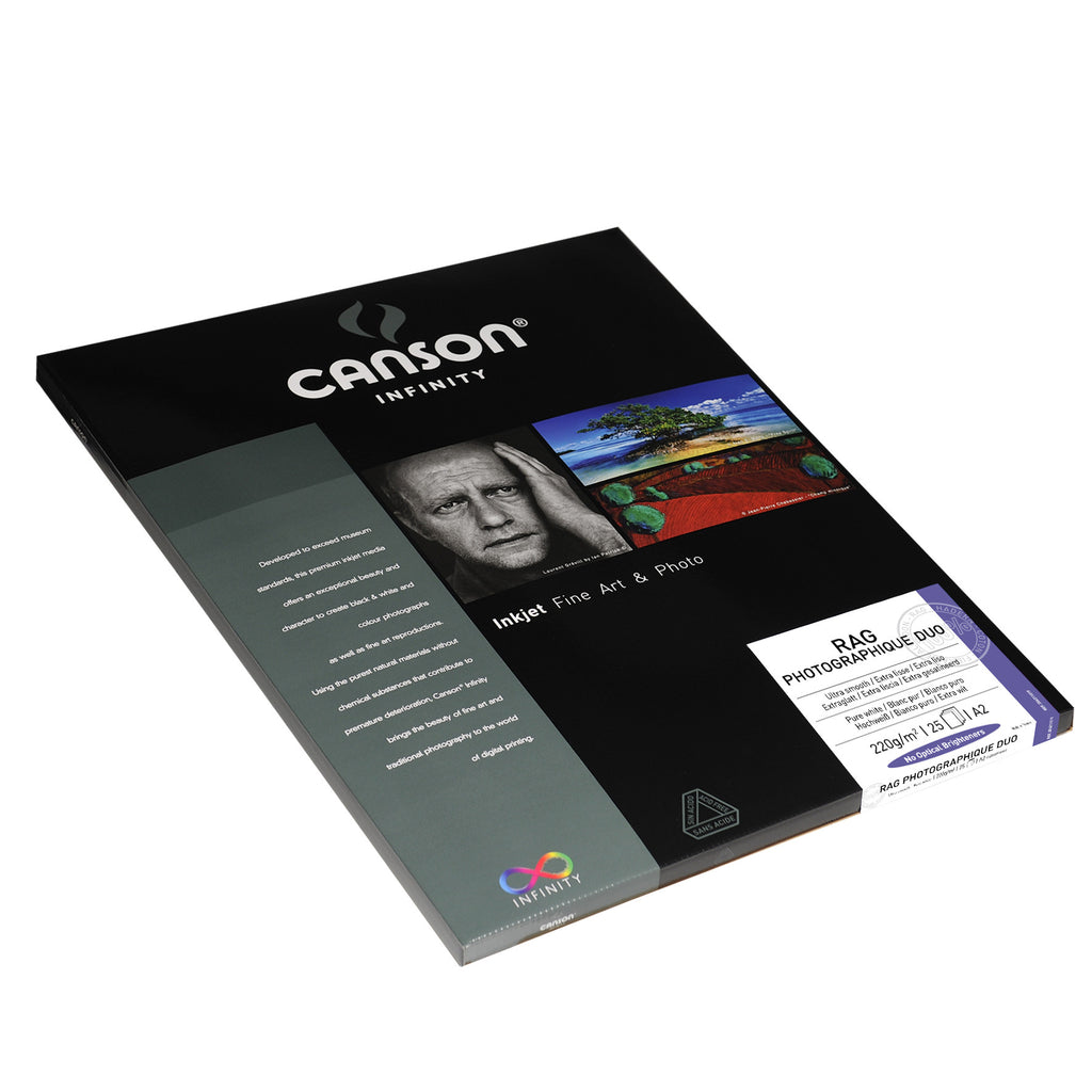Canson Infinity Rag Photographique Duo - 220gsm - A2 (25 sheets) - Wall Your Photos