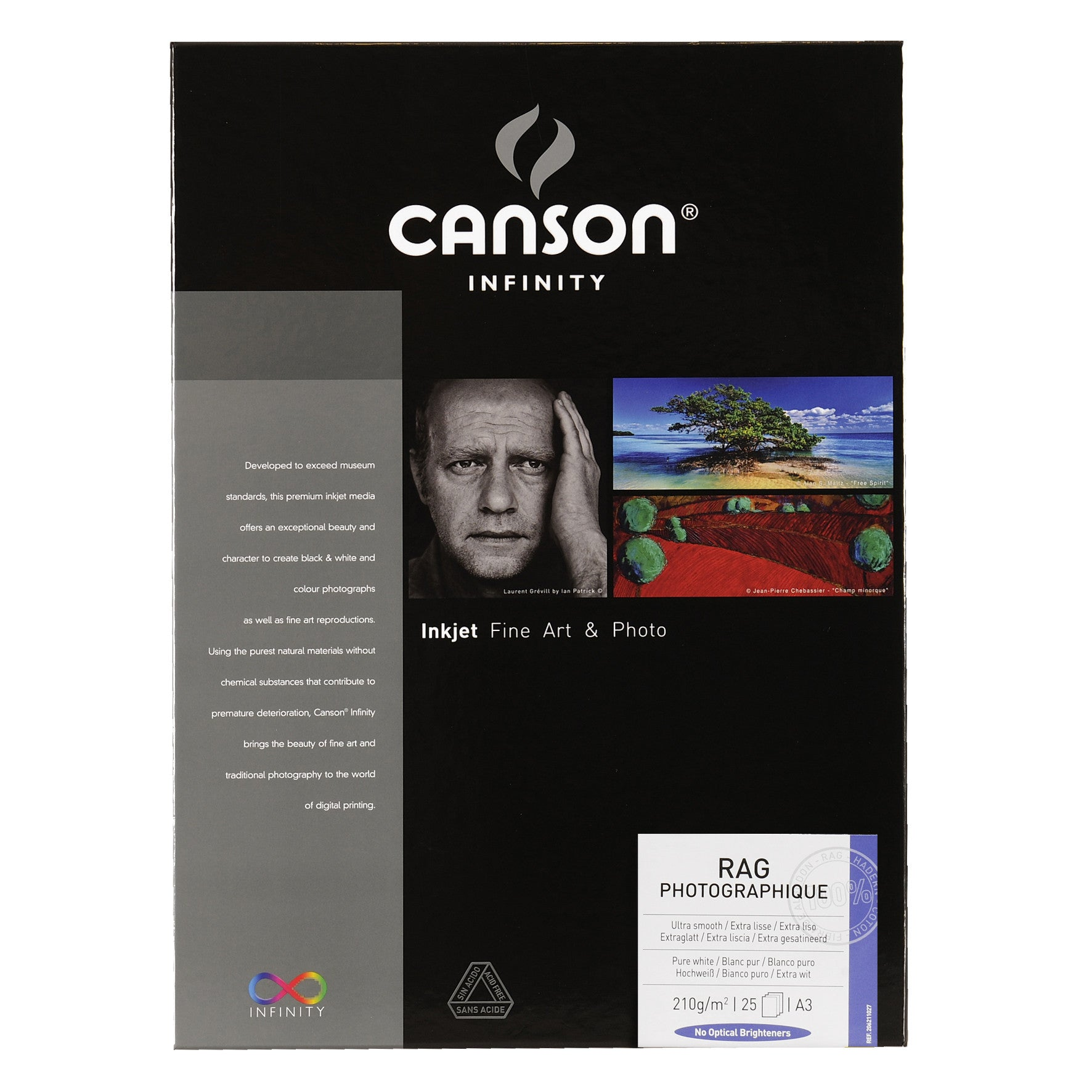 Canson Infinity Rag Photographique - 210gsm - A3 (25 sheets)