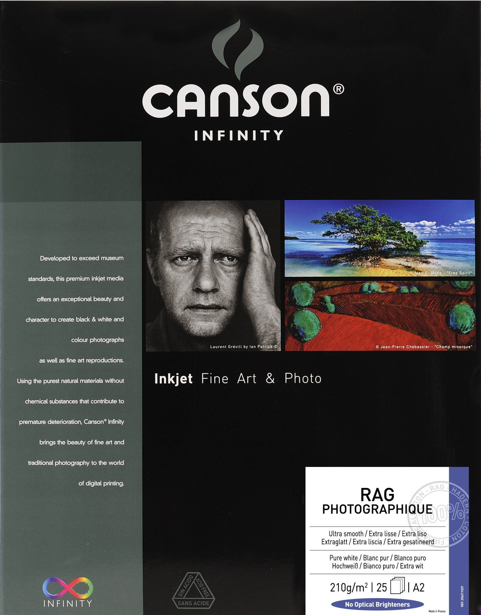Canson Infinity Rag Photographique - 210gsm - A2 (25 sheets)