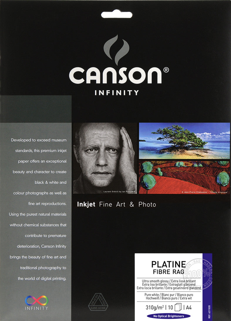Canson Infinity Platine Fibre Rag - 310gsm - A4 (10 sheets) - Wall Your Photos
