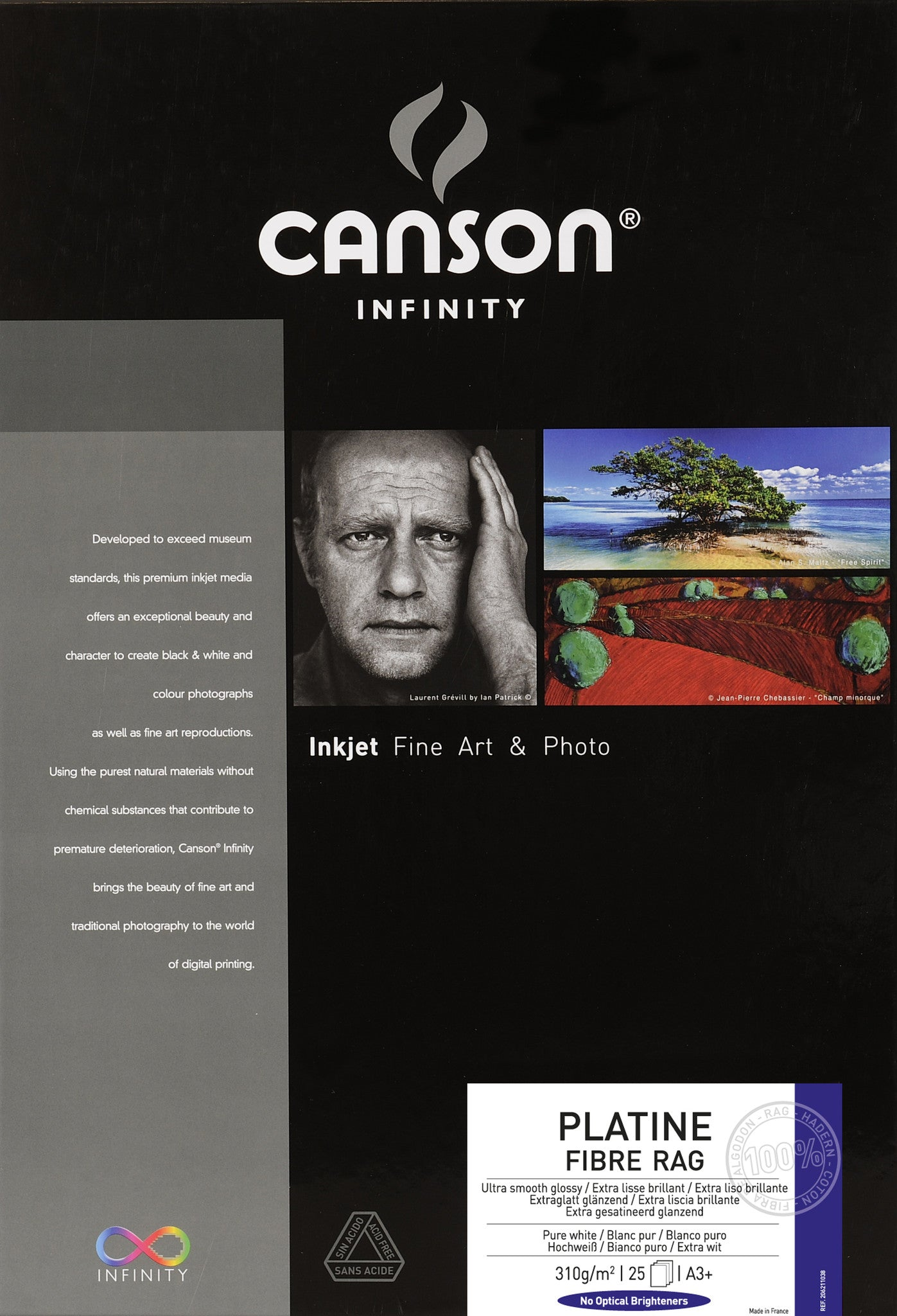 Canson Infinity Platine Fibre Rag - 310gsm - A3+ (25 sheets) – Wall ...