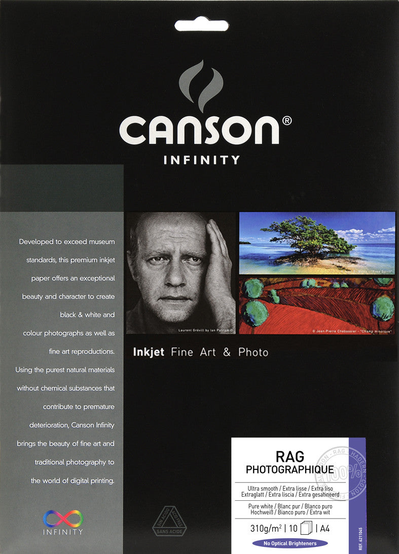 Canson Infinity Rag Photographique - 310gsm - A4 (10 sheets)